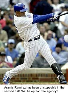 Chicago Cubs third baseman Aramis Ramirez has been one of baseball's best players in the second half.