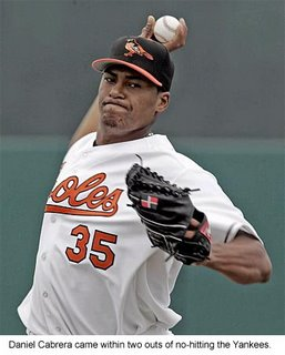 Baltimore Orioles starting pitcher Daniel Cabrera is capable of dominating from time to time.