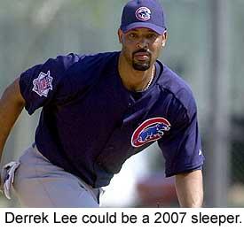 Chicago Cubs first baseman Derrek Lee endured a miserable 2006 season.