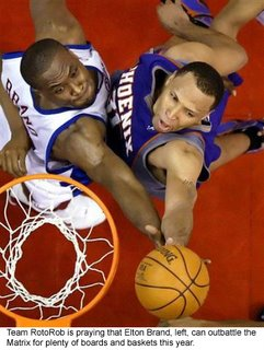 Los Angeles forward Elton Brand was my top choice in this year's draft.