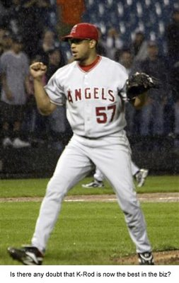 Francisco Rodriguez (K-Rod), closer for the Los Angeles Angels, has become of the best closers in baseball.