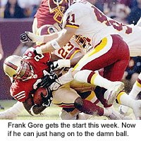 San Francisco 49ers running back Frank Gore is poised for a breakthrough.