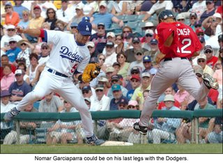 Los Angeles Dodgers first baseman Nomar Garciaparra has shown a flair for the dramatic in what could be his Dodger swan song.