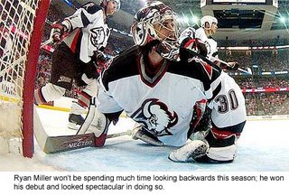 Buffalo Sabres goalie Ryan Miller is off to a great start.