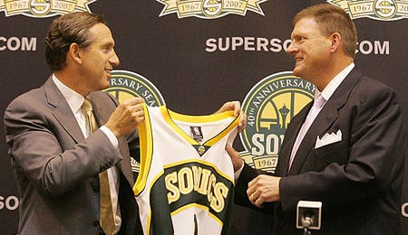 Clay Bennett is the new owner of the Seattle Sonics.