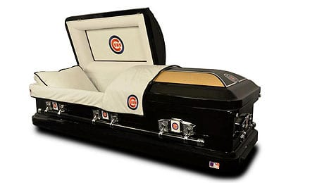 Nothing says lovable loser like a Cubs Casket