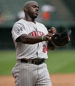 Rondell White is struggling for the Minnesota Twins.