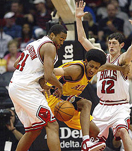 Atlanta Hawks swingman Josh Childress, when he's healthy and his hands don't smell like Kirk Hinrich's armpits, has been huge for the team this season.