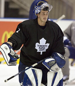 Toronto Maple Leafs goalie Andrew Raycroft is carrying the team right now.