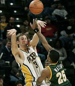 Indiana Pacers big man Troy Murphy makes a solid free agent pickup if available.