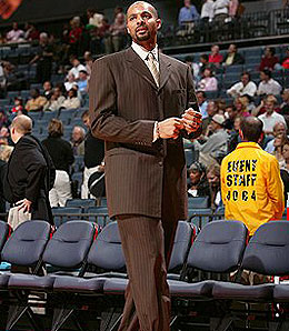 Utah Jazz forward Carlos Boozer spends too much time in street clothes.