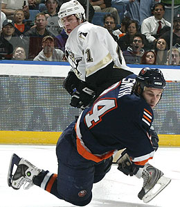 Pittsburgh Penguins left winger Evgeni Malkin looks like a shoo-in for Rookie of the Year.
