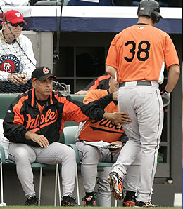 Baltimore Orioles manager Sam Perlozzo has some tough decisions to make this spring.