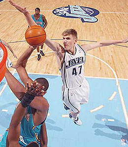 Utah Jazz forward Andrei Kirilenko is banged up again.