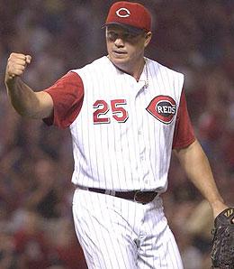 David Weathers is the top man in the Cincinnati Reds bullpen for now.