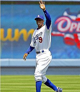 Los Angeles Dodgers outfielder Juan Pierre offers great speed, but little else.