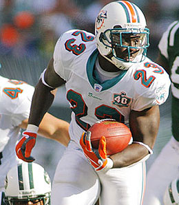 Miami Dolphins running back Ronnie Browns has yet to live up to his draft billing.