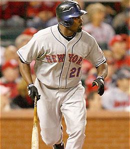 New York Mets first baseman Carlos Delgado is stuck in a slump.