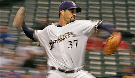 Milwaukee Brewers starting pitcher Jeff Suppan is looking extremely sharp.