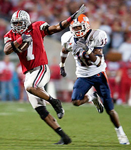 Former Ohio St. Buckeye wide receiver Tedd Ginn, Jr. is all about the speed, baby.