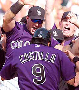 Former Rockies third baseman Vinny Castilla is gone and so are the winning ways in Colorado.