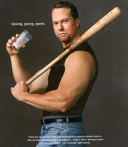 Retired slugger Mark McGwire likely used more than milk to craft his build.