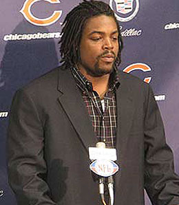 Chicago Bears DT Tank Johnson has been sent packing.