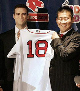 Daisuke Matsuzaka is racking up the strikeouts for the Boston Red Sox.