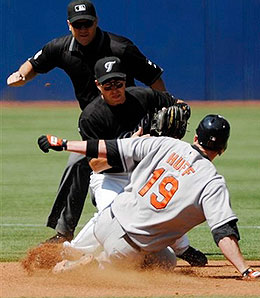 Aubrey Huff has been on fire this month for the Baltimore Orioles.
