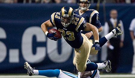 Brian Leonard gets a chance to shine with Steven Jackson out.
