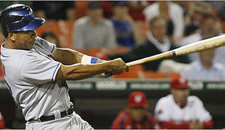 Moises Alou is on fire for the Mets.