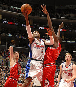 Los Angeles Clipper guard Cuttino Mobley is out with a strained groin.