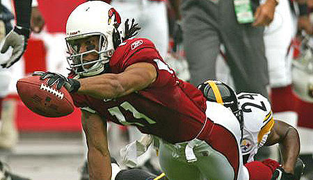 Larry Fitzgerald, despite his health woes, is a top receiving option this week.