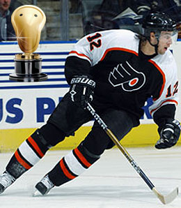 Simon Gagne's concussion has rendered him a dud.