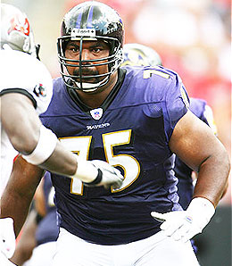 Baltimire has restructured Jonathan's Ogden's contract.