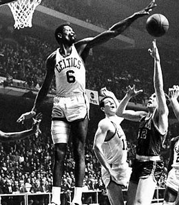 Bill Russell led the Celtics during their glory years.