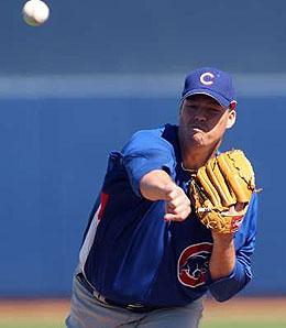 Jon Lieber looks like he has the inside track on a rotation spot.