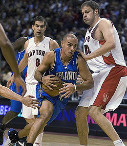 Is Rasho Nesterovic the man at centre for the Raps?