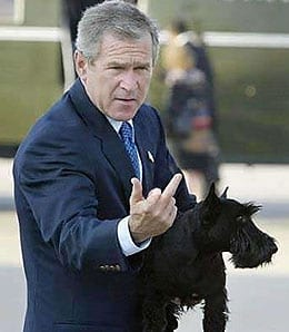 bush-giving-the-finger