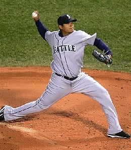 Felix Hernandez was dominant for the Seattle Mariners on Friday.