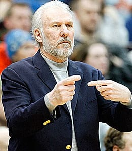 Gregg Popovich will try to lead the San Antonio Spurs to yet another title.