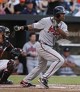 Garret Anderson had a down year for the Atlanta Braves.