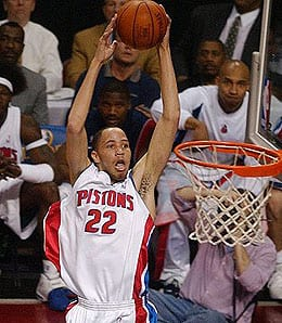 Tayshaun Prince could be out for a while for the Detroit Pistons.