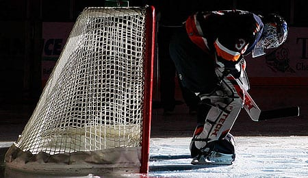 Rick DiPietro in on the comeback trail for the New York Islanders.