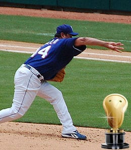 Vicente Padilla was sent packing by the Texas Rangers.