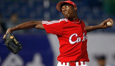 Aroldis Chapman was signed by the Cincinnati Reds.