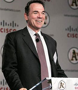 GM Billy Beane of the Oakland A's wasn't happy with Jeremy Bonderman.