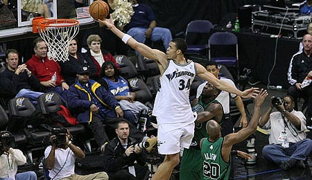 JaVale McGee is ready to explode for the Washington Wizards.