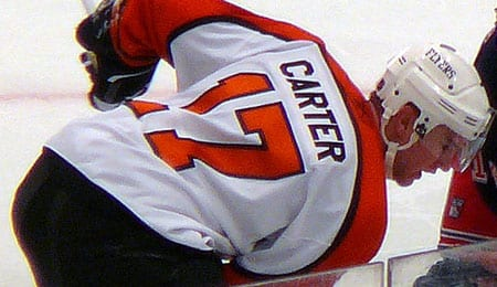 Jeff Carter is out for the Philadelphia Flyers.