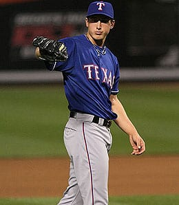 Derek Holland has been promoted by the Texas Rangers.